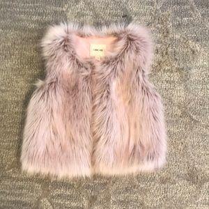 light pink fur vest-not real fur